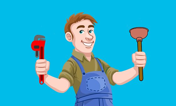 Plumber, Repair, Tools, Pipe, Plunger