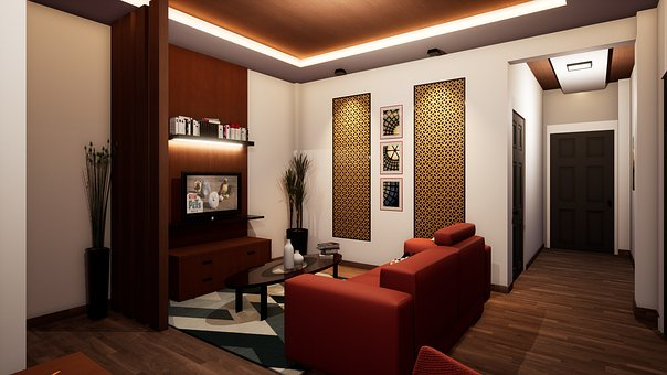 Interior Design, Rendering, Interior, 3D