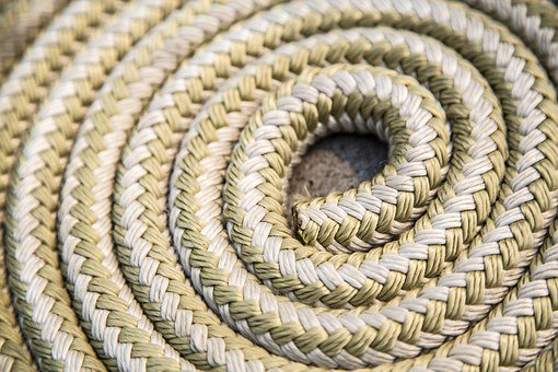 Rope, Coil, Boat, Texture, Nautical
