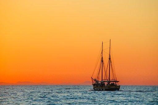 Sea, Sailing Vessel, Boat, Ship