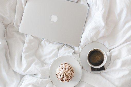 Coffee, Cup, Macbook, Laptop, Working
