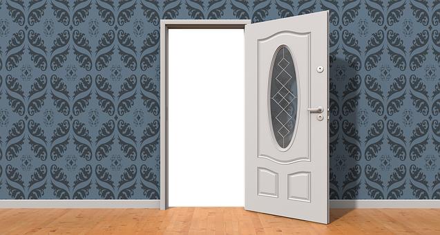 Door, Open, Wall, Open Door, Home