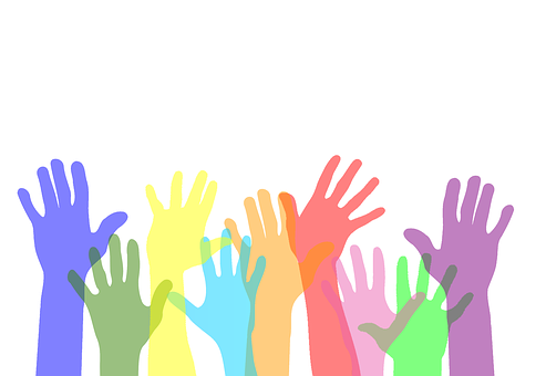 Volunteer, Hands, Help, Colors, Charity